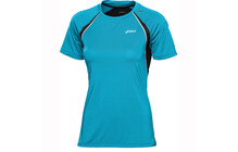ASICS L2 Women's SS Crew Top aquarium performance noir